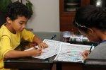 dzieci i kolorowanki